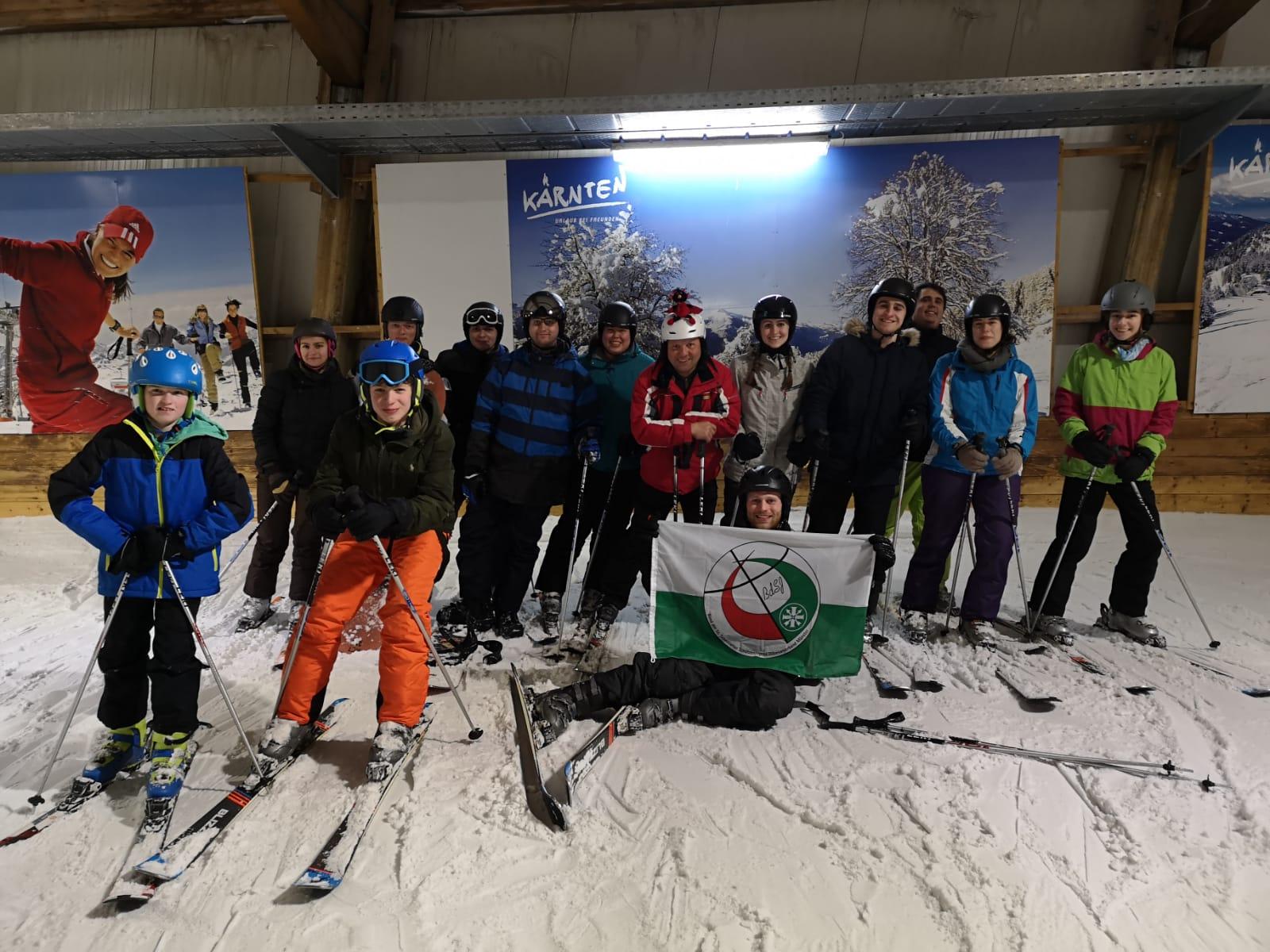 Ausflug in die Skihalle